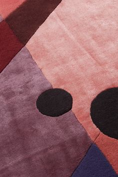 DAHLIA hand tufted rug (detail) - DAHLIA is inspired by the colors of the wild and delicate flower, and also inspired by modern archi - Architecture Details, Modern Architecture, Hand Tufted Rugs, Plum Purple, Abstract Pattern, Functionalism, Dahlia, Most Beautiful Pictures, Color Schemes