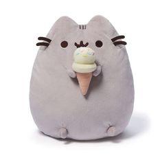 "Pusheen the Cat 9"" Plush Pusheen with Ice Cream Cone"