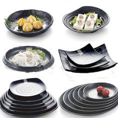 China black Japan style Outdoor grill Tableware Dishes Plates The snack plate Sushi plate Restaurant tableware