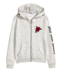 H&M Printed Hooded Jacket