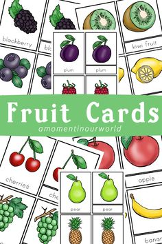With the weather warming up here we have been out doing a little bit of gardening. While planting some seeds, the boys were asking all sorts of questions about fruit and vegetables. I created these fruit cards to help them with some of the most popular fruits. To use these cards: Matching cards – use …