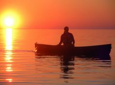 sunset paddle after work on Lake Erie