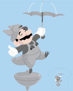 Mario & Totoro t-shirt