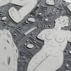 Ancient Greece. Hand Printed Linocut on Behance