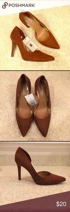 Merona Pointed Pumps Saddle brown pointed pumps. New with tags! Merona Shoes Heels