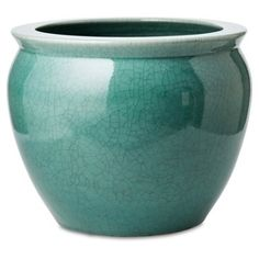 Check out this item at One Kings Lane! Fish Bowl Planter, Turquoise