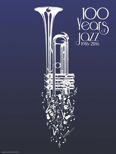 100 Years of Jazz poster Samantha Offutt Graphic Design Posters, Graphic Design Illustration, Graphic Design Inspiration, Poster Designs, Soul Jazz, Jazz Art, Jazz Music, Music Music, Jazz Poster