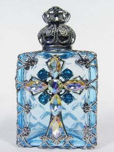 Beautiful blue perfume bottle by nickidrost