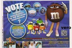 2012 magazine ad M&M's VOTE FOR ME brown mms M&M print advert advertisement
