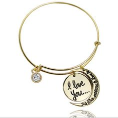 I love you to the moon and back Alex and ani Bangles Bracelets