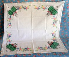 1950s Doggie Card Table Cover Tablecloth by SweetRepeatVintage, $15.00