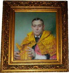 RETRATO DE EGAS MONIZ (1932) - José Malhoa  (1855-1933). Pastel sobre papel (60 x 51 cm). Faculdade de Medicina da Universidade de Lisboa. https://dotempodaoutrasenhora.blogspot.pt/2014/09/efemerides-de-outubro-nova-versao.html