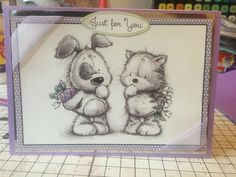 Hunkydory Smudge & Mitten Card