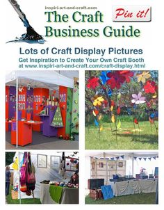Here are plenty of craft display pictures to give you inspiration and ideas for planning your own craft booth.