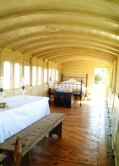 railway carriage bedroom. What a fabulous guest house this could be!