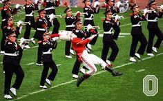 Ohio State University Drum Major and Band Buckeye Game, Buckeyes Football, Ohio State Football, Ohio State Buckeyes, Ohio State Marching Band, Ohio State Vs Michigan, Ohio State University, High School Games, Ohio Stadium