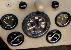Willys Jeep Instrument Cluster, simple is better. Love that light shining down on the outside of speedometer
