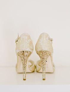 Glitter Heeled Bridal Shoes