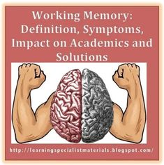 Working memory is a cognitive functioning that enables students to remember and use relevant information to complete an activity. It also enables learners to hold multiple pieces of information in the mind and manipulate them.... #workingmemory Social Stories Autism, Brain Based Learning, Working Memory, Speech Therapy Activities, Cognitive Activities, What Is Work, Memory Games For Kids, Instructional Strategies, School Psychology