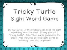 Go to my blog The Phonics Phenomenon for this trick word/sight word FREEBIE! All K-1 Fundations trick words used!