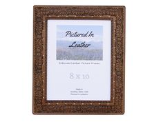 $62  An 8x10 leather photo frame that's embossed with a beautiful oak leaf and acorn design. It's a pretty one!