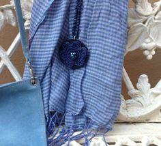 #Crochet necklace. #BlueJeans Spring · Summer #Colortrend 2015 #KatiaYarns