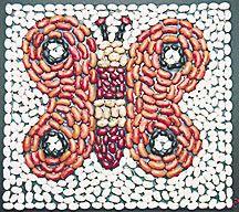 bean mosaic craft for kids Mosaic Crafts, Mosaic Art, Hobbies And Crafts, Arts And Crafts, Seed Art, Sensory Art, Bible School Crafts, 3rd Grade Art, Mandala