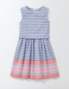 A pretty dress for a special occasion can be soft and comfortable too: this little number in gentle gingham proves it. The layered top features an eye-catching back detail, while its cotton fabric keeps you feeling cosy. Team with cute Mary Janes for perfect party dressing.
