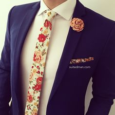 Liberty Mens /'Tessa/' Orange Paisley Cufflinks Wedding Formal Business