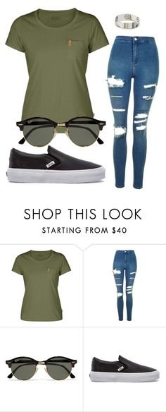 """#No name"" by eemaj ❤ liked on Polyvore featuring Fjällräven, Topshop, Ray-Ban, Vans and Cartier"