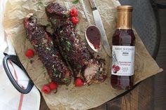 Slow Cooker Pork Tenderloin with Raspberry Chipotle Sauce