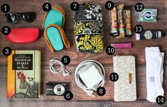 Put these items in your bag and you'll be ready to go!