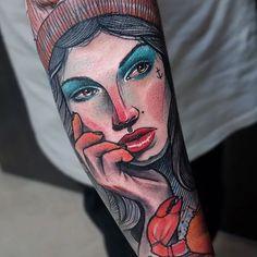 Schwein aka Thomas Burchert Ink, Portrait, Tattoos, Image, Pork, Tatuajes, Headshot Photography, Tattoo, Portrait Paintings