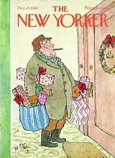 New Yorker cover Steig Grampa brings Christmas gifts 12/2...