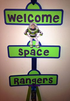 Buzz Lightyear Party Sign by YourPartyShoppe on Etsy, $18.00