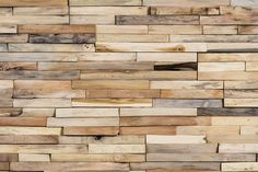 Love it.  Mercury, a wooden wall covering from Wonderwall Studios, blends together surplus teak, predominately sapwood, sourced from regional industries.