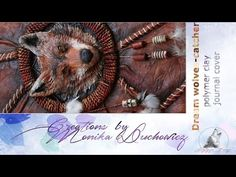 Two wolves polymer clay notebook, journal cover - YouTube