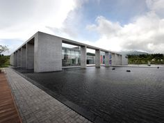 Art Museum in South Korea, nice space in front