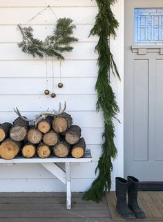 Stunning Farmhouse Christmas Front Porch Ideas That Will Take You Through Winter - Restore Create Renovate