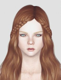 Cazy's Northern Star hairstyle retextured by Momo for Sims 3 - Sims Hairs - http://simshairs.com/cazys-northern-star-hairstyle-retextured-by-momo/