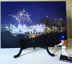 Any Dodger fans out there?! 🙋🏽‍♂️ Gooo Blue! ⚾️. . Featuring our Gator Board print of Dodgers Stadium! Perfect artwork for a boys room, sports fan, or man cave! . Like this print? Ask me how you can order yours today!! 💙