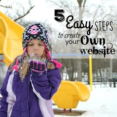 5 Easy Steps to Create Your Own Website - It is so much easier than you'd think and you can literally customize your site in under an hour! Simple Website, Create Your Own Website, Crochet Hats, Easy, Free, Knitting Hats