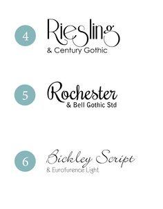 Wedding fonts combos