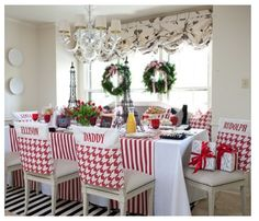 Dinning room decorating in different colors for other holidays or all year long!!