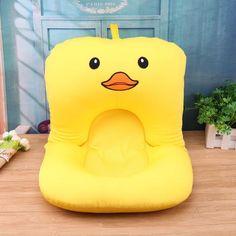 Söpö sarjakuva vauva kylpy Bloom Vauvan kylpyamme Vastasyntynyt uimapuku Infant Bath istuin tukea Baby Shower Taitettava kylpyamme Matto