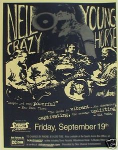 Neil Young concert posters | Vintage Neil Young concert poster. - Hippie, classic rock.