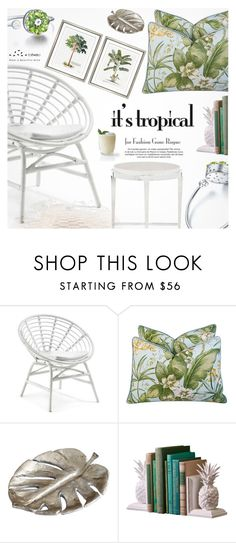 """""""Tropical Prints"""" by totwoo ❤ liked on Polyvore featuring interior, interiors, interior design, home, home decor, interior decorating, Bernhardt, Cyan Design and William Stafford"""
