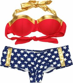 Shop for the Wonder Woman Bandeau Cheeky Short Bikini Swimsuit today. This is an officially licensed Wonder Woman Swimsuit available at Stylin Online now. Wonder Woman, Geek Chic, Women Swimsuits, Beach Swimsuits, Swagg, Sensual, Short, Passion For Fashion, Beachwear