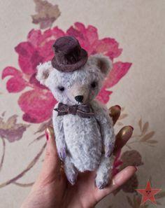 RESERVED Artist teddy bear OOAK 6 inch small от mishafromrussia