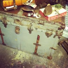 I desperately want an antique trunk someday..